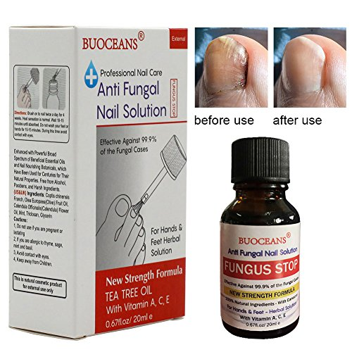 Fungus Stop, Fungal Nail Oil, Anti Fungus Nail Treatment, Effective against nail fungus, Anti fungal Nail Solution, Toenails & Fingernails Solution, Restores Toenail Fungus, Clear, 25 ml