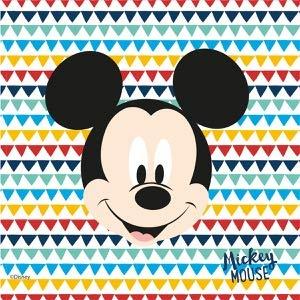 ALMACENESADAN 0881; Paquet de 20 Serviettes en Papier; idéal pour Les fêtes et Les Anniversaires; Disney Mickey Mouse; Dimensions 33x33 cm.