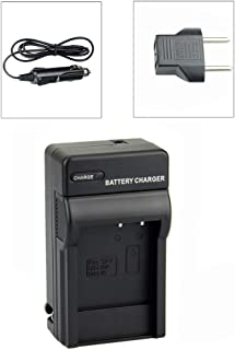 DSTE Replacement for DC77 Travel and Car Charger Adapter Compatible Sanyo DB-L20 DB-L20A DB-L40 DB-L40A Battery