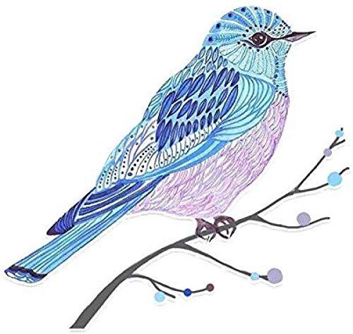 hutianyu 13.3.X 12.5Cm Mooie Vogels Decor Auto Sticker Pvc Gekleurde Verwijderbare Decoratieve Accessoire 2 Stks/Set