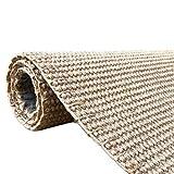 alfombra WXF sisal Natural para Dormitorio de Pasillo de Cocina, área Moderna, Yute de Fibra Tejida a Mano Natural