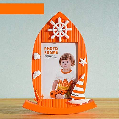 YKDDII Fotolijsten 3 Kleuren Zeilboot Gevormd Fotolijst Voor Tafel Baby Peuter Kinder Foto-Display Frame Voor Home Decor 7 Inch Frame Klassiek Mode Multifunctionele Fotolijst