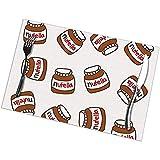 Suo Long Tovagliette da Tavolo rettangolari da Tavolo Modello Tumblr Nutella Carino, tappetini da Cucina per Tavolo da Pranzo
