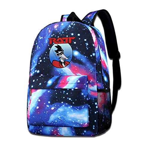 Lawenp RATT Band Boys Grils Shoulder Bag School Gift Casual College School Daypack Camping Outdoor Backpack Casual Daypack Climbing Shoulder Bag