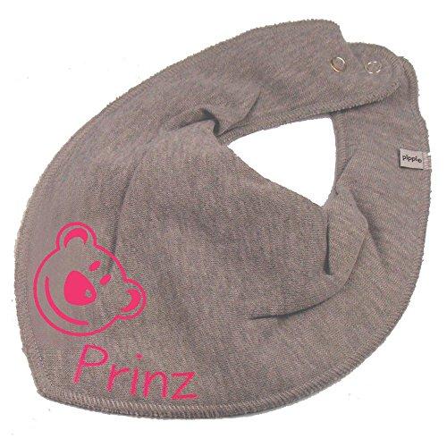 Elefantasie Elefantasie HALSTUCH BÄR mit Namen oder Text personalisiert grau für Baby oder Kind