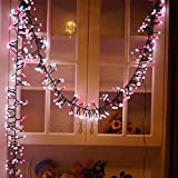 ガゼボ、裏庭、パーゴラ、花綱、結婚式、パーティー用LEDライト爆竹、IP65防水爆発ライト文字列、 Pink