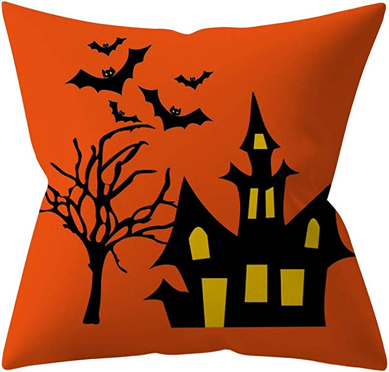 Redacel Halloween Red Pillowcases Throw Pillow Case Decorative Sofa Cushion Cover 45x45cm Bed Pillows D
