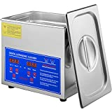 VEVOR Ultrasonic Cleaner 3L Commercial Ultrasonic Cleaner with Digital Timer&Heater 40kHz Ultrasonic Cleaning Machine with Advanced Technology 110V for Watch Glass Diamond Parts Mental Cleaning
