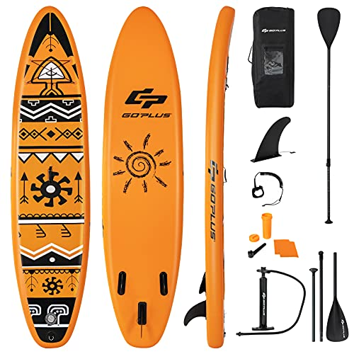 COSTWAY Inflatable Stand Up Paddle Board, 6' Thick SUP with Accessories,...