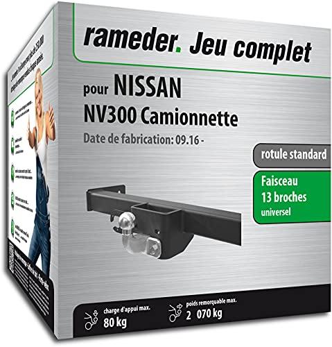 Rameder Pack, attelage rotule Standard 2 Trous + Faisceau 13 Broches Compatible avec Nissan NV300 Camionnette (161694-37028-1-FR).