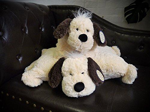 2in1 Kuschelkissen und Kuscheltier Hund, Hündchen, Kissen, Kuschelkissen mit Klettverschluss 46cm