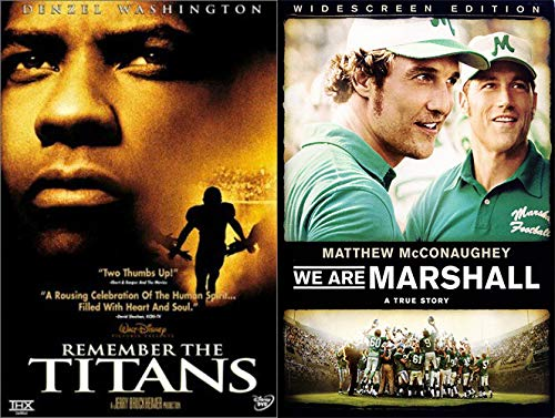 Football Movie Greats- Remember The Titans & We Are Marshall 2-DVD Feature Film Collection