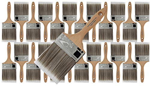 Pro Grade - Paint Brushes - 12 Ea 4 Inch Flat...