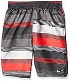 Nike Swim Men's Printed Volley Short Swim Trunk, University Red 6: 1 Linen, Medium