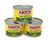 Hatch Mild Whole Green Chiles 4 Ounce Cans - Pack of 3