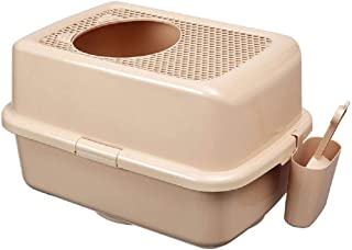 Portable Pet Toilet Top-in Cat Litter Basin Full-Enclosed Extra-Large Fat Cat Toilet Anti-Splashing Cat Excrement Potty Cat Supplies Convenient