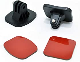 Adhesive Mounts for GoPro Cameras - Curved & Flat Mounts Base with Strong Sticky Pads Easy Mount to Helmet - Camera Mounting Accessory Kits Fits for All GoPro Hero 7 6 5 4 3+ 3