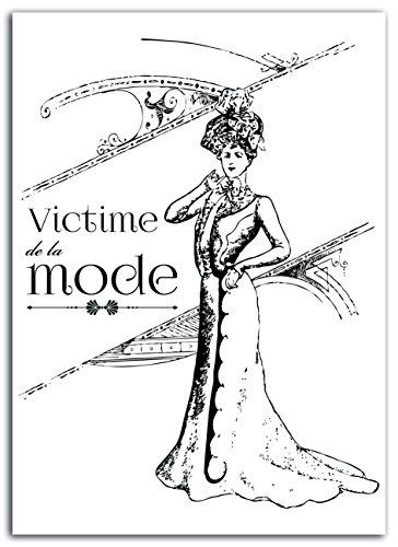 Lady Toga mem303 Vintage Fashion Kunststof Strijkplank Zwart 15 x 21 x 0,1 cm