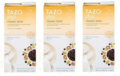 Tazo Chai Tea Latte Concentrate (32 oz, 1 quart) - Pack of 3