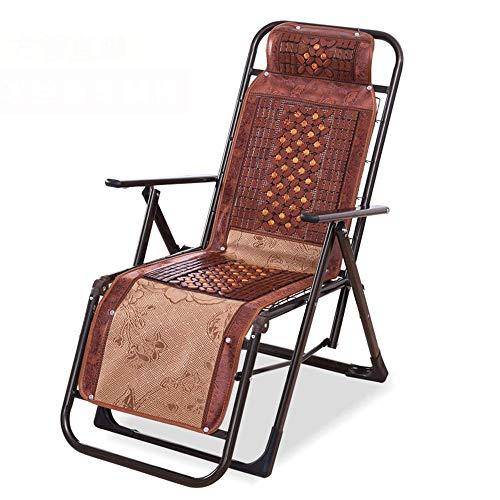 ZDZY ZDZY Lounge Chair Recliners Gartenstuhl, Rattan Recliner Sommer Recliner Klappstuhl Strand Cool Chair, Home Office Nap (2 Stile) Stuhl (Farbe: B)