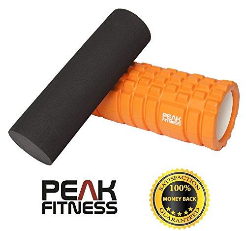 Rullo in schiuma per massaggio miofasciale 2 in 1 Peak Fitness - 100% Soddisfatto o rimborsato, nessun rischio. Garanzia di rimborso completo entro 60 giorni dall'acquisto.