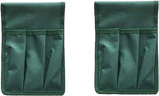 Yardwe 2Pcs Garden Tool Pouch Garden Kneeler Seat Side Pockets Folding Kneeler Stool Chair Cloth Bag Gardening Supplies