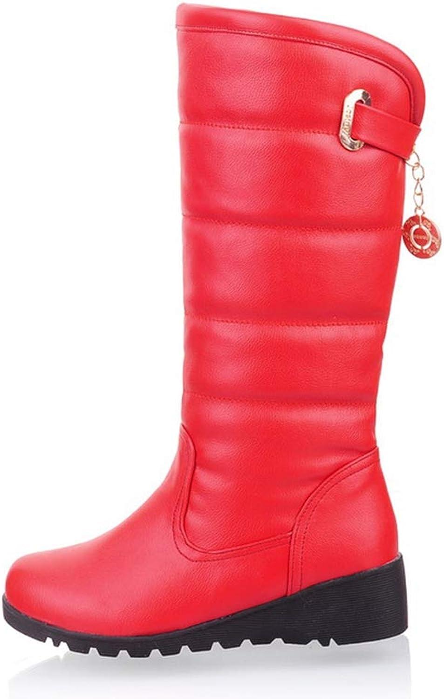 T -JULY Winter Warm Fur stor Storlek Snow stövlar stövlar stövlar Mode Kvinnors vattentäta skor Damer Knee höga stövlar  arenan