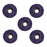 """5Pcs 4"""" Poly Strip Disc Wheel Paint Rust Removal Clean for Angle Grinder"""