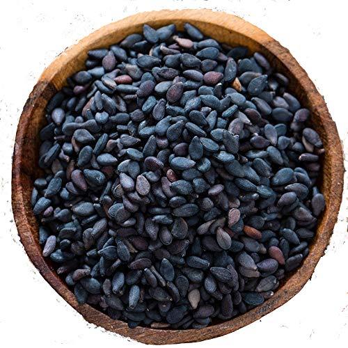 Semillas de Sesamo Negro 'Med Cuisine' - Crudo No Tostado, Alto en Proteínas, Vitamina B, Hierro, Calcio, Vegano y Sin Gluten - 500gr