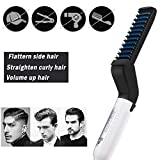SKYyao Plancha Para El Cabello Para Hombres All In One Ceramic Hair Styling Iron Comb Barba Plancha Para La Barba Rizador Set Quick Hair Styler Para Hombres