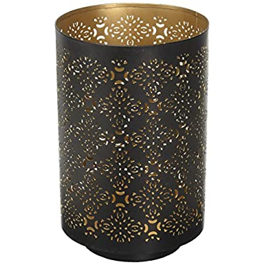 Hosley Diamond Cut Candle Holder 8  Height - Ideal Gift for Wedding, Spa, Lantern, Reiki, Decor. LED Candles P9