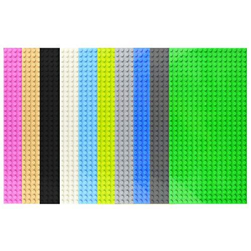 AMITAS 10 Stück Bauplatten 16 X 32 Platten Bauplatten Bauspielzeug Konstruktionsspielzeug für Lego Stadtleben