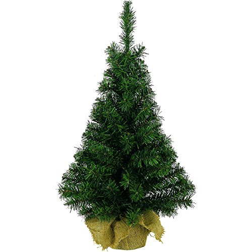 Kaemingk Mini Table Centerpeice Christmas Tree With Hessian Base - 45CM