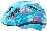 Ked Meggy Trend Green Croco 2017, Casco da mountain bike, per bambini, casco per downhill, azzurro con motivo floreale, S