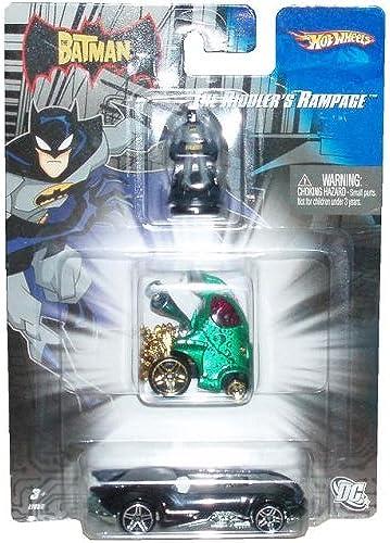 preferente Hot Wheels 1 64 Scale Batman Series Die-Cast Cars Cars Cars Set - The Riddler's Rampage with Batman Mini Figure, Riddler's Car and Batmobile by Mattel  Todo en alta calidad y bajo precio.