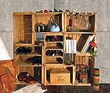 Cassette della frutta,portabottiglie,libreria,arredo wine bar modulare composto da 9 casse...