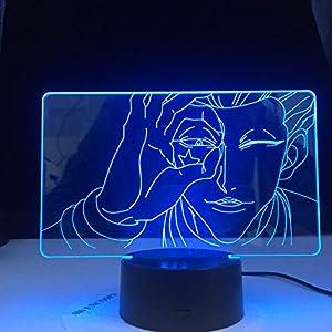 3D Lamp Hisoka Face Led Color Changing Atmosphere for Kids Bedroom Decor Light Child Night Light