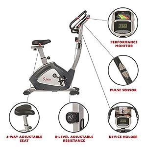 Sunny Health & Fitness Endurance Zone Upright Bike - SF-B2956, Gray