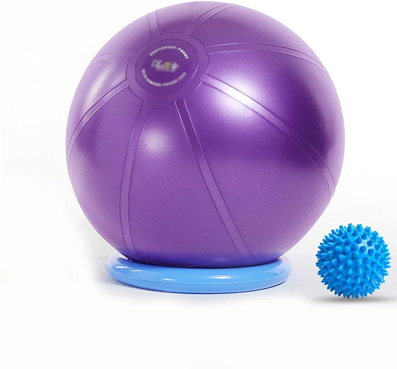 GSPYJQ Yoga Ball verdickung explosionsgeschützte Ball Kinder Schwangere Frauen Gewichtsverlust Gewicht Ball Umweltfreundliche geschmacklos Yoga Ball 55 cm, 65 cm, 75 cm, 85 cm