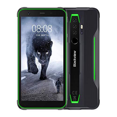 "Blackview BV6300 Pro Móvil Libre Resistente Android 10 Smartphone 4G con Cámara Cuádruple 16MP+13MP, Helio P70 Octa-Core, 6GB+128GB-SD 128GB, Batería 4380mAh, 5.7"" HD+ Teléfono Robusto, NFC/GPS-Verde"