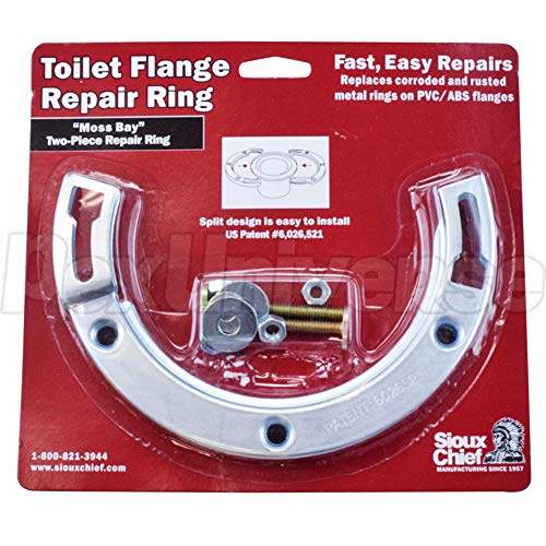 Moss Bay Style Steel Closet Flange Repair Ring Kit w/Bolts - Pack of 8