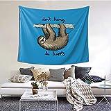 Be Happy Tapiz para colgar en la pared como decoración del hogar para dormitorio, sala de estar, decoración de dormitorio (60 x 51 pulgadas)