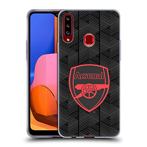 Head Case Designs Officially Licensed Arsenal FC Black Crest and Gunners Logo Soft Gel Case Compatible with Samsung Galaxy A20s (2019)