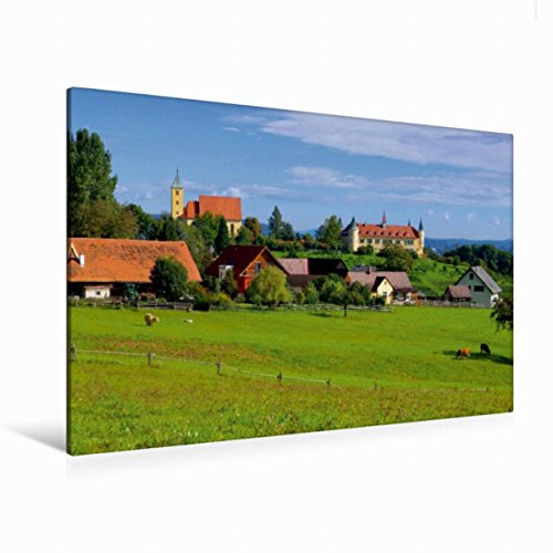 Premium Textil-Leinwand 120 x 80 cm Quer-Format Schloss St. Martin, Leinwanddruck von Thomas Polske