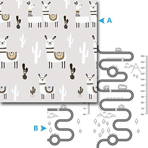 ZI LING SHOP- Tapis de jeu pour bébé Matelas pour bébé XPE pliable pour tapis de sol et tapis pour bébé blanket (Color : B)