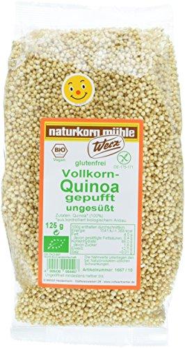 Werz Vollkorn-Quinoa gepufft ungesüßt, glutenfrei (1 x 125 g Beutel) - Bio