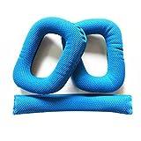 LEORX Ear Pads Almohadillas de espuma flexible Intercambio Cojín de cinta Logitech G430G930auricular (Azul)
