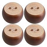 Braun Eukalyptus Holz Runde Möbel Beine Füße 100 kg Lager Gewicht für Sofa Schränke Tische Bett...