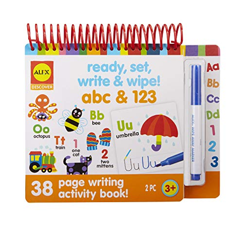 Alex Little Hands Ready Set Write and Wipe! ABC and 123 Kids Toddler Art and Craft Activity