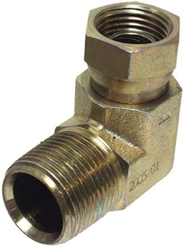 "Apache 39005175 1/2"" Male Pipe x 1/2"" Female Pipe 90° Hydraulic Adapter (Style 1501)"